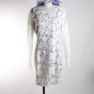 Endless Rose cut out white dress size L